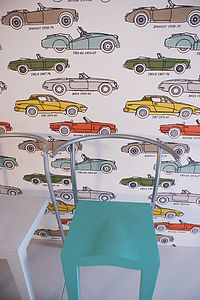 British Classic Car Wallpaper - baby's room