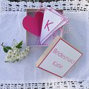 Personalised Bridesmaid Box - Pink