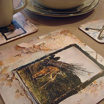 Led Zeppelin coasters and placemats