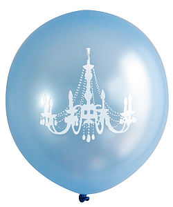 Baby Blue Chandelier Balloon - room decorations