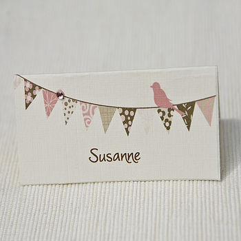Bunting place card design