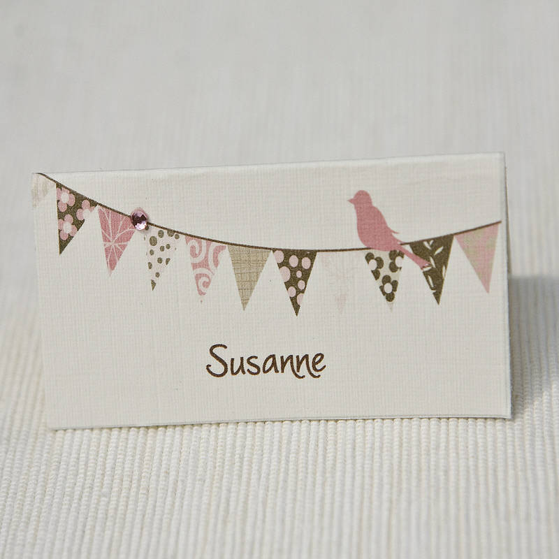 Personalised place cards name cards range by beautiful for Wedding place name cards