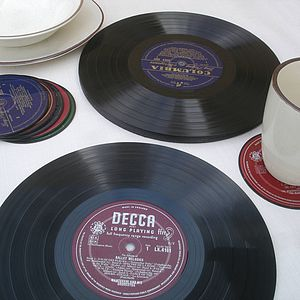 Vinyl Record Placemats - table decorations
