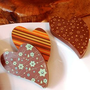 Milk Chocolate Heart - wedding favours