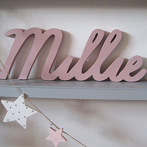 Personalised Word Block - room decorations