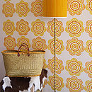 Retro 70's Daisy Hand Printed Wallpaper