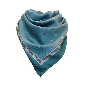 Teal Horses And Carts For Darts Head Scarf