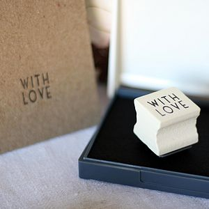 'With Love' Stamp And Ink Pad - ribbon & wrap