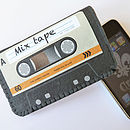 Orange Mix Tape Cassette Phone Case