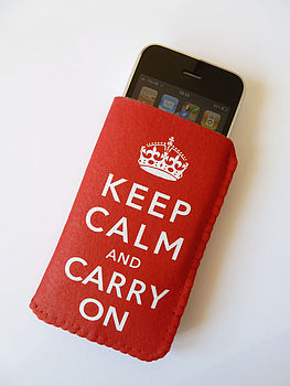 IPhone Case Keep Calm And Carry On Phone Case