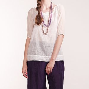 Cotton Voile Nelly Blouse