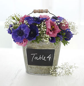Blackboard Bucket - table decorations