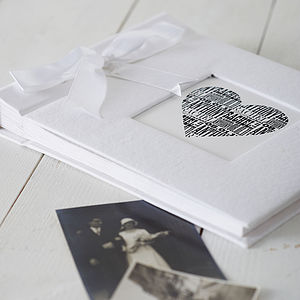Personalised Wedding Album - anniversary gifts