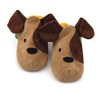 Childrens Puppy Slippers