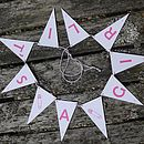 It's A Girl Bunting Small
