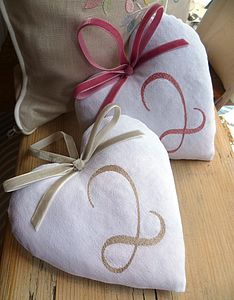 Cotton 2nd Wedding Anniversary Heart - decorative accessories