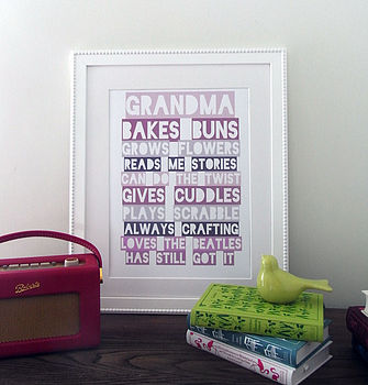 Grandma Personalised Wall Art