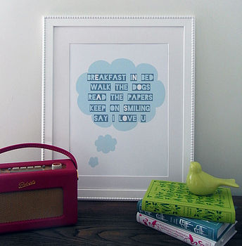 Your Thoughts Personalised Wall Art