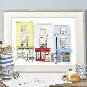 Alice Tait 'Antique Shops Portobello Road' Print - the london collection