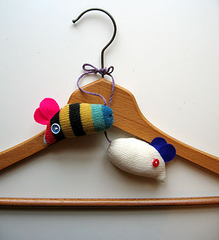 Two Lavender Wardrobe Mice