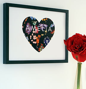 Personalised Close Knit Typographic Print - posters & prints