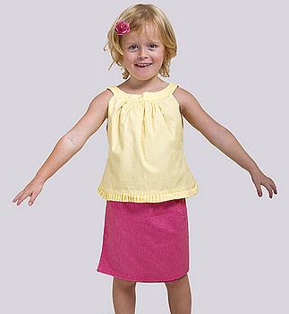 Fully Reversible Organic Cotton Wrap Skirt