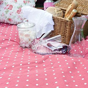 Extra Large Red Polka Dot Picnic Rug - picnic rugs