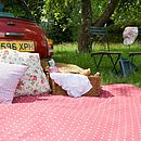 Red Polka Dot Picnic Rug