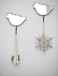 Mirrored Bird Hook - mirrors