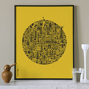Typographic New York Map Print - travel prints