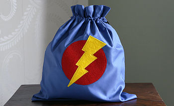 Blue Superhero drawstring bag