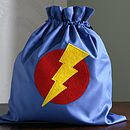 Blue Superhero drawstring bag