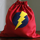Red superhero drawstring bag