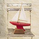 Vintage Toy Star Sailing Boat