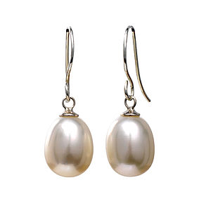 Tear Drop Pearl Earrings - wedding jewellery