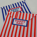 25 Candy Stripe Party Bags And Stickers