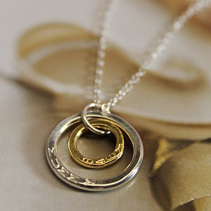 Gold And Silver Hoops Necklace - necklaces & pendants