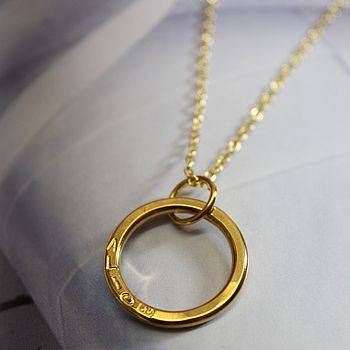 Personalised Gold Circle Necklace