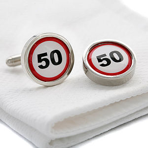 Speed Signs Cufflinks - cufflinks