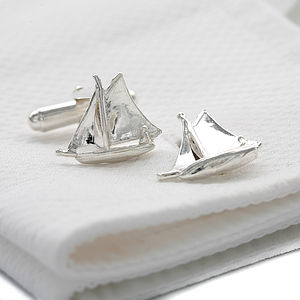 Silver Sailboat Cufflinks