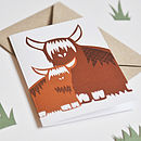 Highland Cow Greeting Cards -Pack Of Four