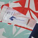 Floral Screen Printed Tea Towel - label