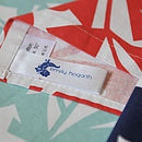 Floral Screen Printed Tea Towel - label