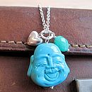 Buddha Turquoise Charm Long Necklace