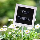 Blackboard Chalkboard Wedding Table Numbers Set Of Five