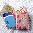Oyster Card Wallet Ice Cream Pink