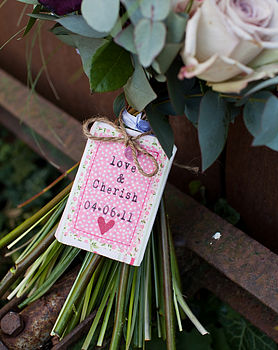 Love & Cherish Wedding Bouquet Token