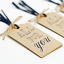 'all for you' gift tags