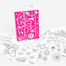 Colour-in Girls Party Invites