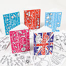 Colour In Postcard Books Five Set X1